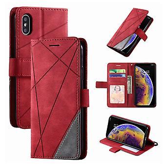 الاشياء المعتمدة® Xiaomi مي 11 حالة الوجه - محفظة جلدية PU محفظة جلدية غطاء الغلاف القضية الأحمر