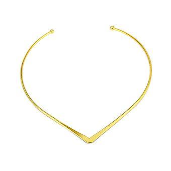 Simple V Design Choker Necklace