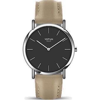 VOTUM - Reloj de señora - SLICE SMALL - PURE - V05.10.40.04 - correa de cuero - beige
