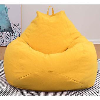 Chaises de couverture de sofas de sac de haricots sans siège de chaise longue en tissu de remplissage- puff