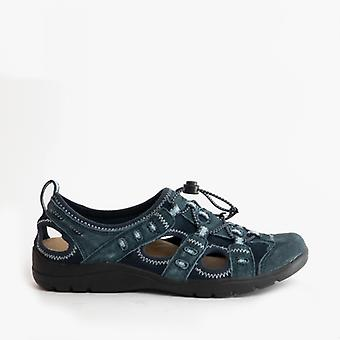 Earth Spirit Winona Ladies Suede Casual Shoes Navy Blue