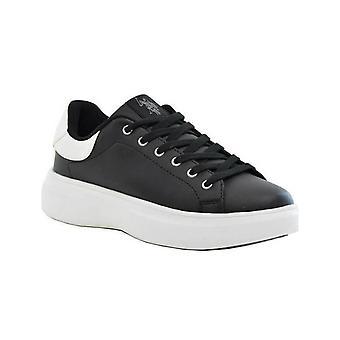 Schoenen Dames Sneaker Us Polo Mod. Miriam Club In Ecopelle Zwart/Wit D21up05