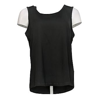 Anybody Women's Top Move Active Stretch Jersey Tank Black A349819
