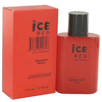 Ice Red Eau De Parfum Spray By Sakamichi 3.4 oz Eau De Parfum Spray
