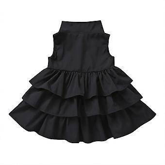 Dojčenská dievčenská torta volánové vrstvené šaty Tutu 90cm čierna