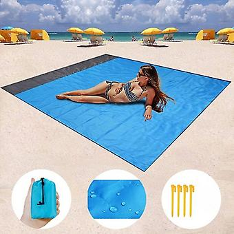 200x210cm / 200x140cm Waterproof Pocket Beach Blanket Folding Camping Mat Mattress Portable Lightweight Mat Outdoor Picnic Mat Sand Beach Mat