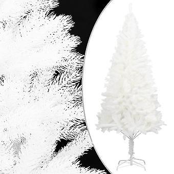 vidaXL الاصطناعية شجرة عيد الميلاد نابض بالحياة الإبر الأبيض 210 سم