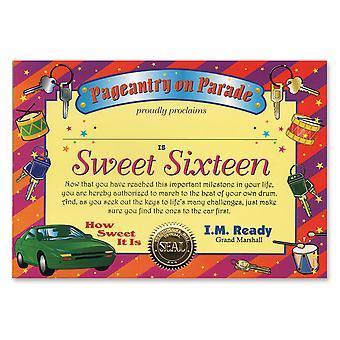 Certificado Sweet Sixteen (Pack of 6)