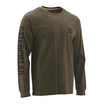 キャタピラーユニセックス商標バナーls Tシャツチャイブ18496