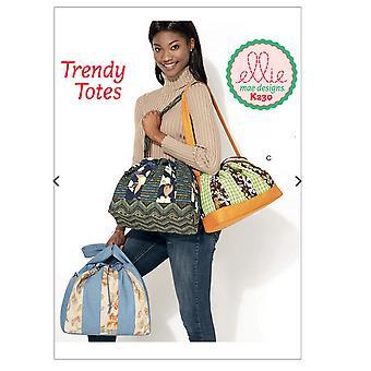Kwik Sew Sewing Pattern 0230 K230 Ellie Mae Three Lined Bags