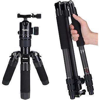 HanFei Carbon Stativ CT-5C I 3-in-1 Kamera-Stativ, Mini-Stativ und Monopod I 157 cm max. Hhe, 43 cm
