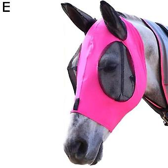 Anti-fly Mesh Equine Mask, Horse Stretch Adjustable Fly Masks, Breathable,