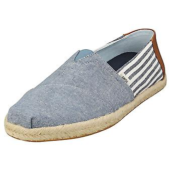 Toms Alpargata Rope Mens Slip On Shoes in Navy Brown