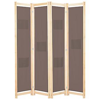 """vidaXL 4 חלקים חדר מחלק חום 160 x 170 x 4 ס""""מ בד"""
