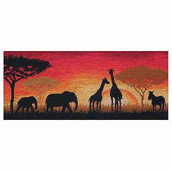 Anchor Counted Cross Stitch Kit: Maia Collection: African Horizon