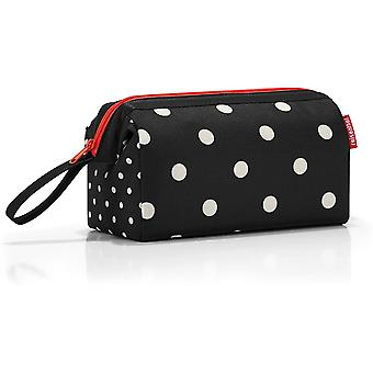 Gerui travelcosmetic Mixed dots Toiletry Bag 26 Centimeters 4 Black (Mixed Dots)