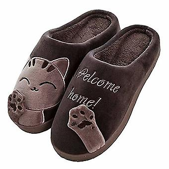 Cute Cat Slippers Indoor Winter Slippers Anti-slip Shoes For Women And Men