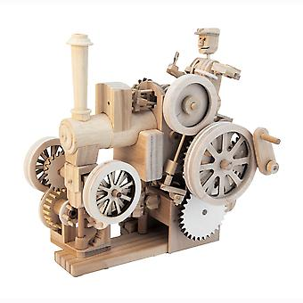 Timberkits Traction Engine - Wooden Moving Model Assembly Construction Gift
