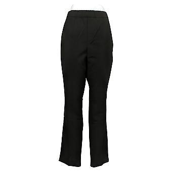 Susan Graver Damskie spodnie stretch pull na chino czarny a387790