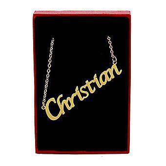 Kigu - Halsband med kristet namn, pläterat i 18 karats guld, med anpassat hänge, för kvinnor, flickvänner, mödrar, systrar, Ref. 4963303127798
