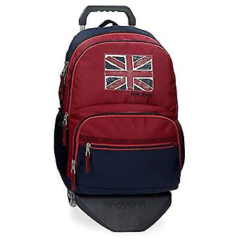 Pepe Jeans Andy Backpack Double Compartment with Red Trolley 33x46x17 cms Polyester 25.81L