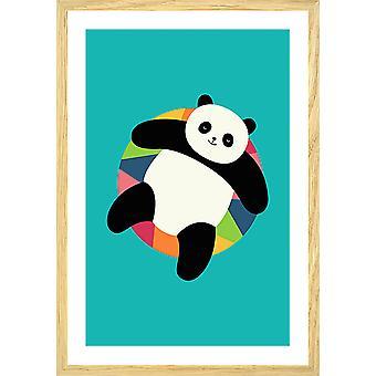 De pandaaffiche van de poolpartij van het kind
