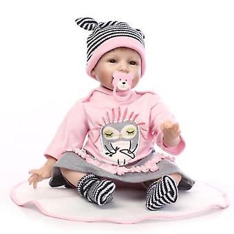 Renacido Baby Dolls Docka Mjukt Silikon 40cm Realista Muñeca Recién Nacida Regalo