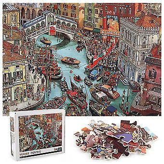 1000Pcs venice town jigsaw diy puzzle toys assembling picture decoration az8724