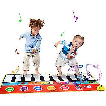 Piano music matkids early educational toys keyboard dancing mat carpet x6698