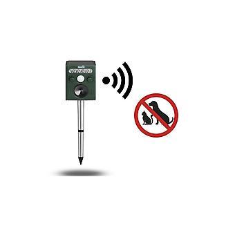 909 OUTDOOR Ultradźwiękowy repycherze ogrodu, zwalczania szkodników dla zwierząt domowych i dzikich zwierząt, czujnik ruchu PIR & lampa błyskowa LED, wodoodporny (zasilany energią słoneczną)