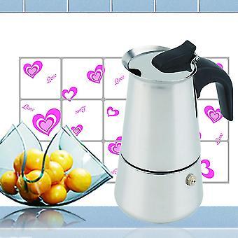 2/4/6-Tasse Percolator Ofen Top Kaffeemaschine Moka Espresso Latte Edelstahl Topf