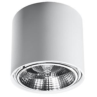 Sollux TIUBE SL.0695 Opbouw Downlights Round Flush Light Wit GU10