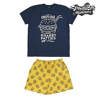 Kesä Pyjama Paavo Sininen Keltainen