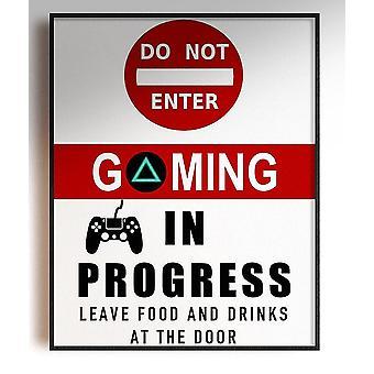 GnG Gaming A4 Word Sitat Innrammede Plakater For Barn Soverom Kunstverk IKKE GÅ INN PS