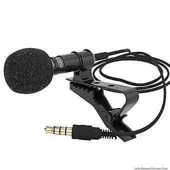 Mini Mikrofon Kondensator Clip-on Lapel Lavalier Mic wired Telefon Laptop