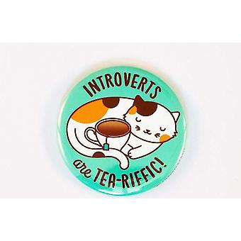 Introverte zijn thee-riffic!-kat en theeknop