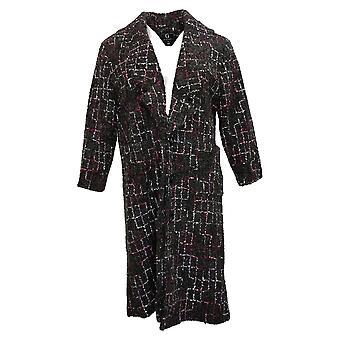 G por Giuliana Women's Novelty Tweed Button Front Jacket Gray 671271