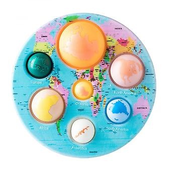 Seven Continents And Eight Ocean Planets Silicone Bag Bubble Board Decompression Fingertip Toys Children And Adults Can Use