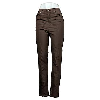DG2 by Diane Gilman Women's Jeans 4T Tall Stretch Skinny Brown 679811