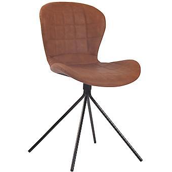 Chaise de bureau - Chaise de bureau - Bureau à domicile - Moderne - Marron - Métal - 47 cm x 54 cm x 78 cm
