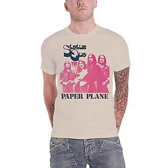 Status Quo T skjorte papir fly gruppe skudd bandet Logo offisielle Mens nye Beige