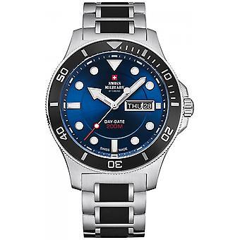 Reloj suizo Military By Chrono Silver Stainless Steel SM34068.02 para hombre