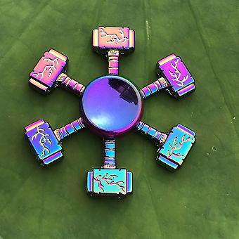 Spinning tops anti stress fidget rainbow modern futuristic metal finger spinner 64