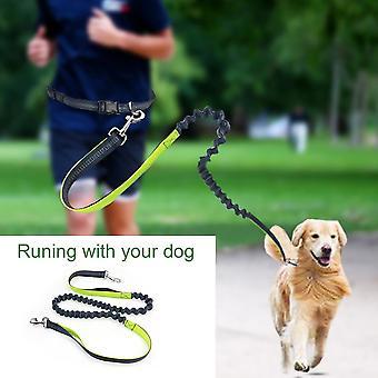 נייד אלסטי פועל כלב מחמד רצועה מתכווננת המותניים עם חוט רפלקטיבי
