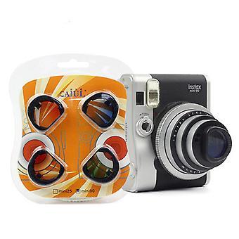 Conjunto de filtro de close-up de cores compatível com Fujifilm Instax Mini 90