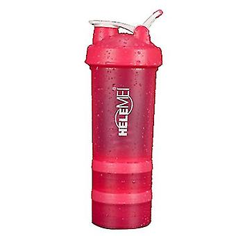 Scrub Shaking Cup Protein Powder Milkshake Cup Sports Fitness Water Cup With Scale With Pill Box Double Layer