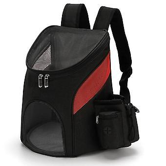 Vikbart mesh husdjur bär väska ryggsäck andas hund och katt bär väska
