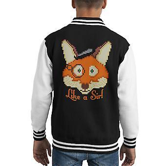 Like A Sir Fox Kid's Varsity Jacket