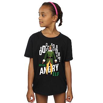Niñas de Elf elfos enojado t-shirt