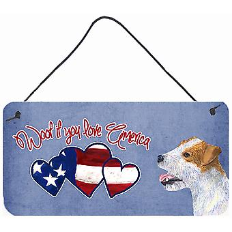 Woof se amate America Jack Russell Terrier parete o porta appeso stampe